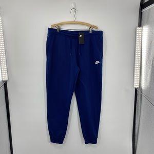 Woman's Dark Blue Nike Fleece Joggers Size Xlarge